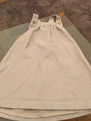 Gorgeous Marks & Spencer's baby girls silver sparkly cord pinafore dress 12-18 m