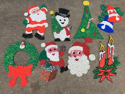 Lot of 8 Vintage Melted Plastic Popcorn Christmas Decorations