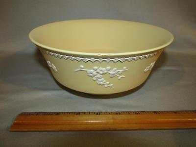 "Wedgwood Yellow Jasperware 8"" Bowl - Prunus Flowers"