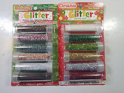 Sulyn Glitter Christmas Holiday assortment variety red green white gold white
