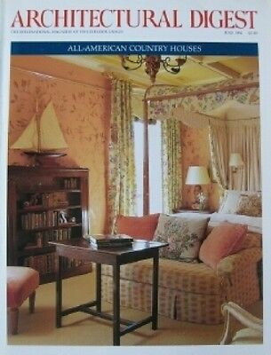 6/94 ARCHITECTURAL DIGEST AMERICAN COUNTRY HOUSES Shingle Style Big Sur Home