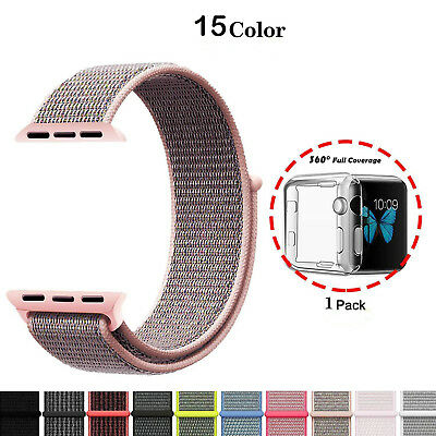 Woven Nylon Sport Loop iWatch Band Strap Bracelet For iwatch Series 1 2 3