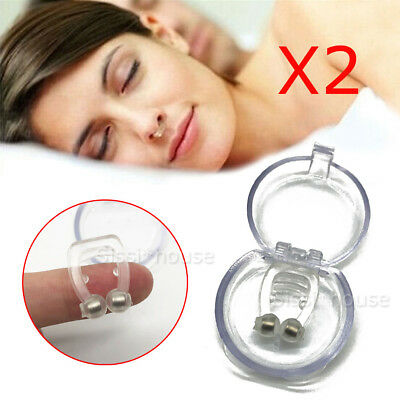 X2 Anti Snore Magnetic Silicone Nose Clip Stop Snoring Apnea Aid Device Stoppers