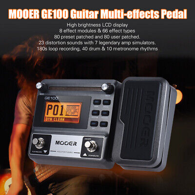 Multi-Effects Guitar Processor Pedal Tuning Tap Tempo Rhythm Loop Recording 3Min