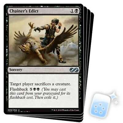 CHAINER'S EDICT X4 Ultimate Masters Magic MTG MINT CARD