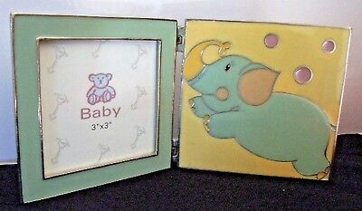 PHOTO FRAME Pewter & Enamel Baby