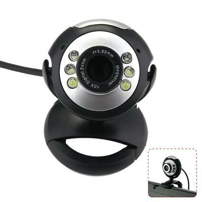 USB 12.0MP 6 LED Night Vision Webcam Video Camera Web Cam With Mic PC Laptop DA