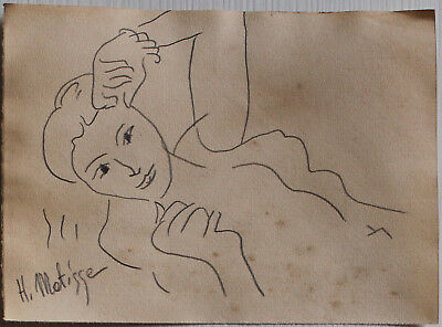 Pencil drawing signed H. MATISSE