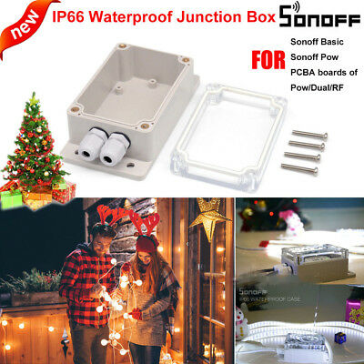IP66 Waterproof Enclosure Shell Junction Box For Sonoff Basic/RF/Dual/Pow uh xno