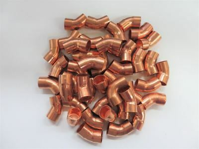 Bag of 43 x Conex Banninger Copper Elbow 45° 15mm Pipe Water Gas Plumbing