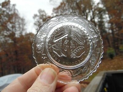 Antique EAPG Sandwich Glass Cup Plate  The Wedding Day And Three Weeks After