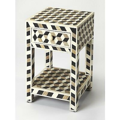 Butler Modern Bone Inlay Square Multi Color Side Table 4496318