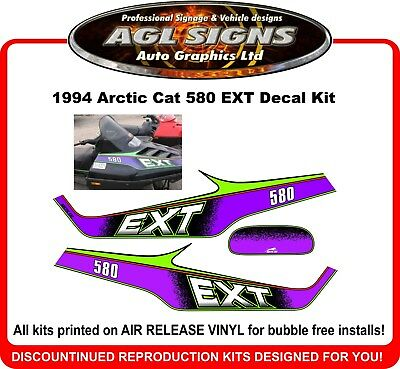1994 Arctic Cat 580 EXT Reproduction Decal Kit   graphics stickers