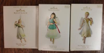 Lot of 3 Hallmark Holiday Angels series Ornaments 2006 (1st) & 2010 & 2011
