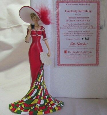 Hamilton Collection Timelessly Refreshing Coca Cola Figurine, Ltd Ed, NIB, COA