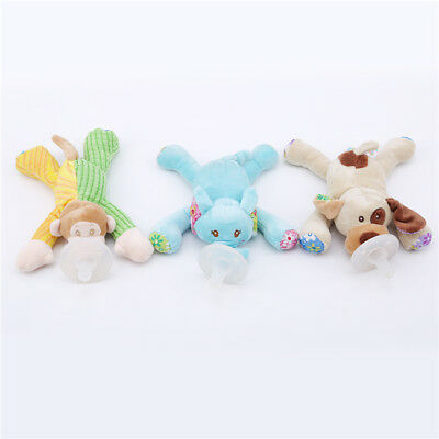 Soft Stuffed Animal Toy Infant Baby Boy Girl Pacifier Dummy Nipple Soother Z