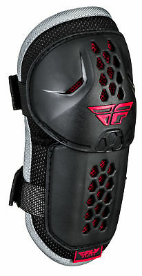 Fly Racing Adult Black/Red Barricade Dirt Bike Elbow Guards ATV UTV MX One Size