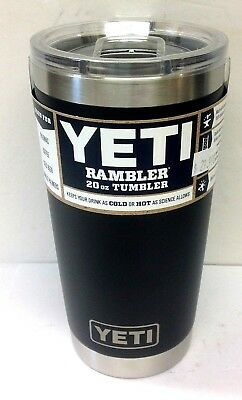 YETI RAMBLER 20 oz. TUMBLER (MATTE BLACK) WITH MAGSLIDER LID STAINLESS STEEL