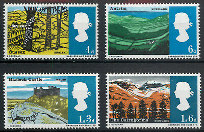 Great Britain GB 1966 Landscapes set SG 689-692 MNH unmounted mint