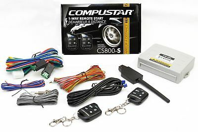 Compustar Car Auto Remote Start Starter w Keyless Entry & Bypass Module Bundle