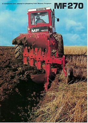 Massey Ferguson MF 270 Diamond Plough Vintage Brochure / Leaflet  5860F