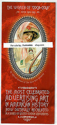 The Women of Coca Cola Advertising Lithograph LE Art Brochure Coke 1910 1913 nos