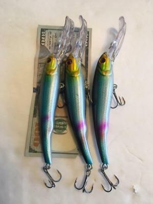 LOT OF 7 Manns Textured Stretch 20 STYLE Holographic Fishing Lures 1 0Z  6 1//2