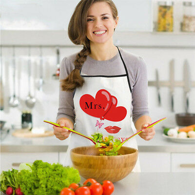 Mr and Mrs Aprons Men Women Kitchen Apron Wedding Engagement Gifts LD