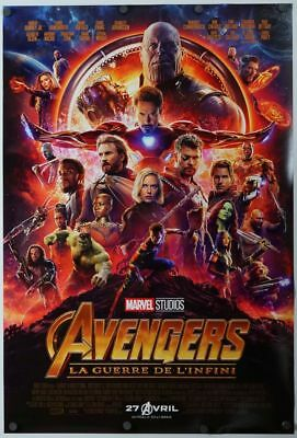 Avengers Infinity War - original DS movie poster - 27x40 D/S 2018 French