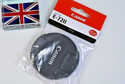 100% GENUINE CANON EF FRONT LENS CAP E-72II 72mm SNAP ON BRAND NEW IN BAG