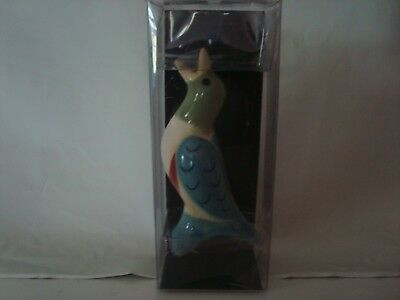 PFALTZGRAFF Ceramic Pie Bird Warbler Blues Greens NIP