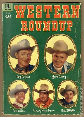 Dell Giant Western Roundup #2 1953 GD 2.0