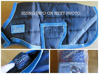 New Shires Warm Breathable Dog Coat Rug Blue Small 156