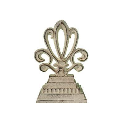 Cast Iron Finial Antique White Fancy Decorative Tabletop Decor