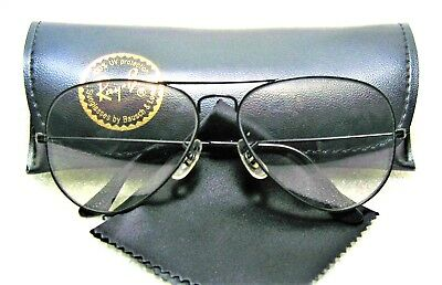 Ray-Ban USA NOS Vintage B&L Aviator Blue Super-Changeable 58 Lens New Sunglasses