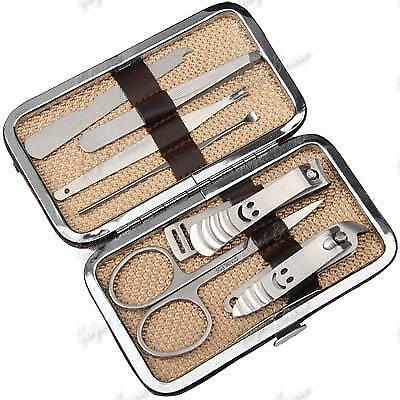 Manicure Set,Grooming Kit,Nail Gift Case,7 PC,Scissors,Clippers,Tweezers,Cuticle