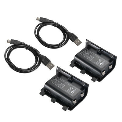 2x Battery Pack Charger Kit w/ USB Cable for Xbox One Wireless Controller AC1622
