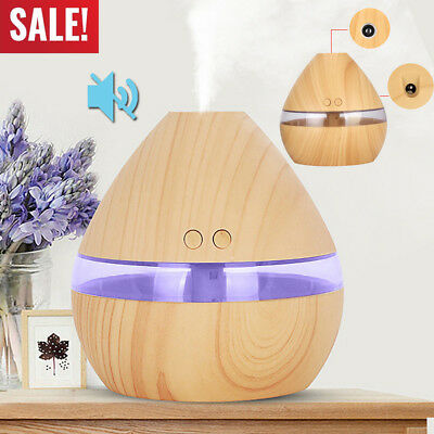 300ml USB Electric Aroma Essential Oil Diffuser LED Home Office Air Humidifier
