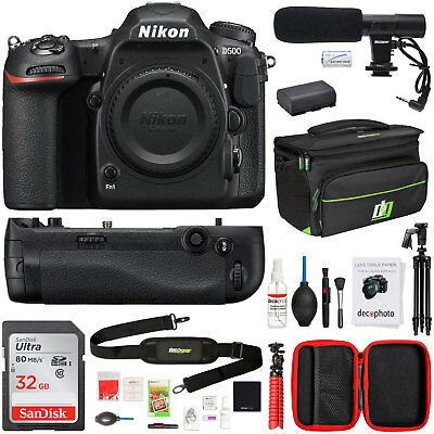 Nikon D500 20.9 MP CMOS DX Format Digital SLR 4K Camera + 32GB Photo Bundle