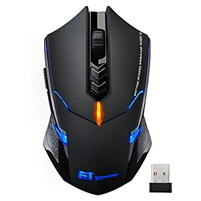 VicTsing Wireless Gaming Mouse with Unique Silent Click Breathing Backlit
