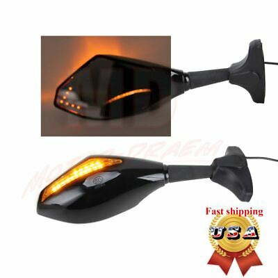 533ea7576ed1b CARBON MOTORCYCLE LED Turn Signals Rearview Mirrors For Suzuki GSXR 600 750  1000