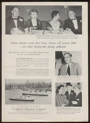1958 Charlie McCarthy Edgar Bergen photo SS United States ship US Lines ad