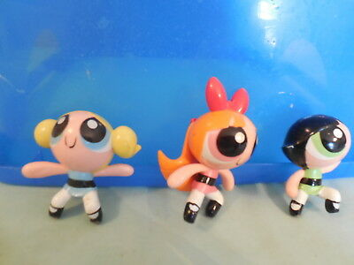Vintage Power Puff girls Bubbles etc  Play figures