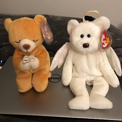 Authentic TY Beanie Babies Hope & Halo Bundle - MWMT 4th Generation