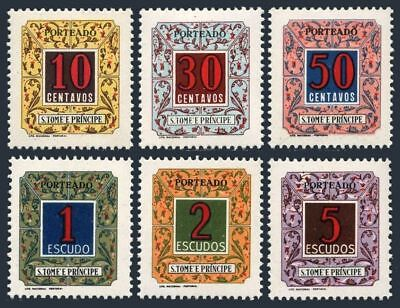 St Thomas & Prince J52-J57,MNH.Michel P42-P47. Due stamps 1952.Numeral.