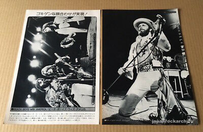 1975 The Beach Boys & America 2pg 2 photo JAPAN mag spread / pinup clipping b11m