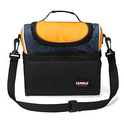 Insulated Thermal Cooler Lunch Box Bag Double layer Tote Outdoor Camping Picnic