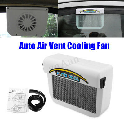 Solar Powered Car Window Windshield Auto Air Vent Cooler Cooling Fan
