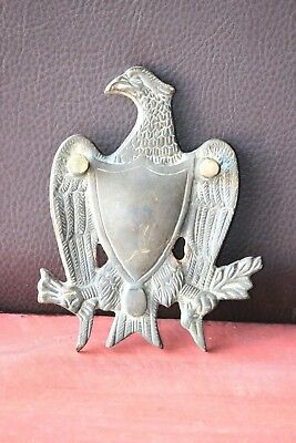Vintage American Brass Eagle & Shield Door Knocker Decorative Collectible G-87