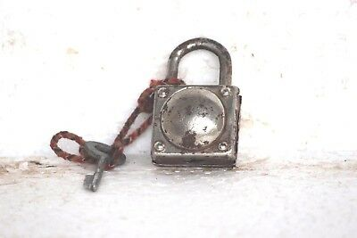 Old Vintage Antique Rare Iron Brass Lock and Key Collectible S-95
